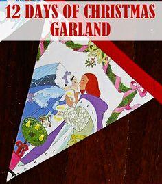 The 12 Days of Christmas Garland @Childhood101