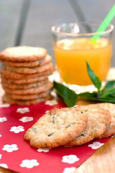 Red Shallot Kitchen: Lemon Lime Basil Shortbread Cookies