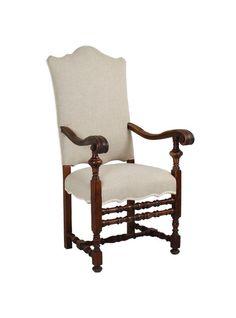 Italian Baroque Style Walnut Armchair
