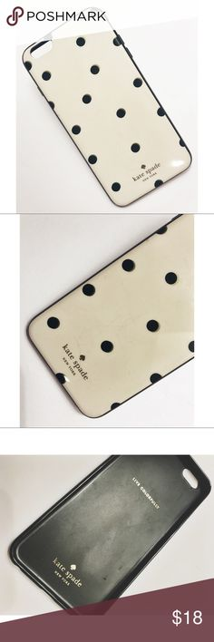 Kate Spade • IPhone Case Kate Spade • Polka Dot iPhone 6 Plus Case. In good condition. Minor scratches on the back. One scratch on inside but obviously you wouldn't see it when your phone is in the case ☺️  . . . . . Suggested Used! 💁🏼 Non-Smoking Household! 🌿 A passionate Posher! 👗 Make an Offer! 🛍 kate spade Accessories Phone Cases