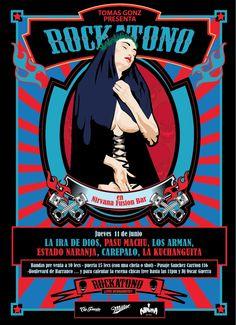 Afiche para Rockatono por Capitan Porrito #CapitanPorrito #afiche #Rockatono
