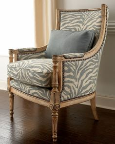 "Old Hickory Tannery Antiqued ""Zebra"" Chair - Horchow"