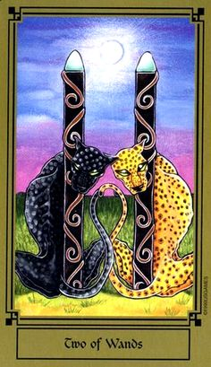 Today's tarotscope -- Two of Wands -- featuring the Fantastical Tarot by Nathalie Hertz, creator of the Faerie Tarot and the Vampire Tarot, by US Games.
