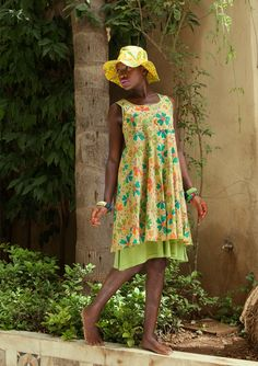"Kjole ""Rosenkrage"" i bomuld–Nederdele & kjoler–GUDRUN SJÖDÉN – Kläder Online & Postorder"