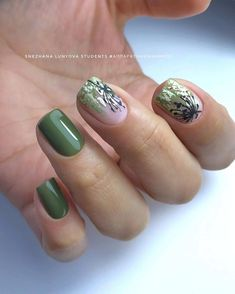 100+ идей маникюра на короткие ногти Spring Nail Art, Spring Nails, Gel Nails, Manicure, Embellishments, Beauty, Nail Gel, Pure Nail Bar, Gel Nail