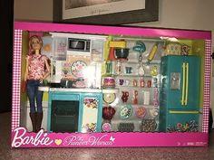 Barbie Doll The Pioneer Woman Kitchen Set With Chef Ree Drummond~BNIB Barbie Y Ken, Baby Barbie, Barbie Sets, Mattel Barbie, Barbie Townhouse, Accessoires Barbie, Barbie Playsets, Pioneer Woman Kitchen, Barbie Kitchen