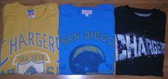 San Diego Chargers Junk Food Nike NFL Football Lot of 3 T-Shirts Size Medium #JunkFood #SanDiegoChargers