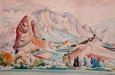 paysage de Mirmande par André Lhote