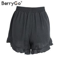 High Waist Ruffles Sexy Shorts