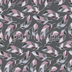 Federleichter Traum designt von Olga Chaban. Nahtloses einfaches Musterdesign mit verstreuten stilisierten Federn. Individuell einfärbbar in Deinen Wunschfarben. Erhältlich als Viskose- oder Baumwoll Jersey und Baumwollstoff.