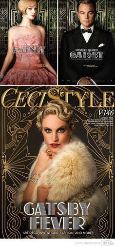 CeciStyle v146: Ceci Johnson of Ceci New York - LEADING ROLE - Ceci channels Daisy Buchanan in her personal take on The Great Gatsby movie poster, complete with Art Deco designs by Ceci New York. Shot by Brian Marcus of Fred Marcus Photography. #gatsby #wedding #inspiration