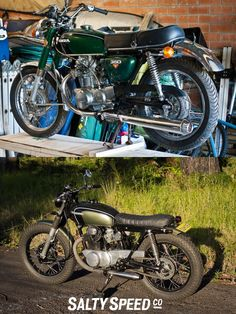Honda 350 Vintage bike new build before and after...or how to make awful things