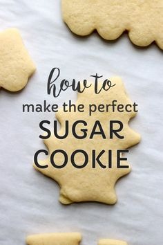 This easy sugar cookies recipe is only perfect when you know how to make the perfect sugar cookie!   via @cleverlysimple