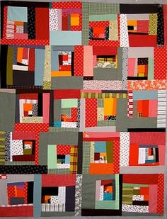i was laying in bed imagining a wonky quilt i'd like to make and got onto pinterest to see almost the exact thing i pictured!! #weird