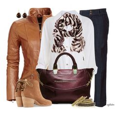 Fall Outfits | Colored Leather Jacket | Fashionista Trends