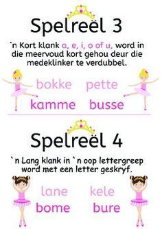 Spelreels vir prinses ballerinas, by My Afrikaanse Avontuur Quotes Dream, Life Quotes Love, Quotes Quotes, Education Quotes For Teachers, Kids Education, Robert Kiyosaki, Napoleon Hill, Afrikaans Language, Teaching Aids