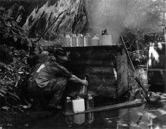 'Moonshine Still', from Earl Palmer's superb Appalachian Photograph Collection, 20thC, via Virginia Tech; found at Home Distiller …