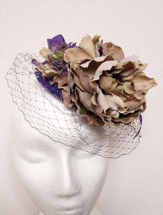Purple Fascinator Wedding Hat VINTAGE CHIC by FascinatorsFirst, $34.00