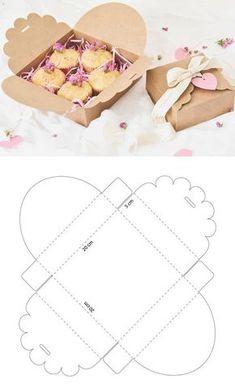 Caja de cartón para galletas – Cardboard box for cookies – The post Cardboard box for cookies – # biscuits appeared first on Craft Ideas. Diy Gift Box, Diy Box, Gift Boxes, Paper Gifts, Diy Paper, Paper Box Template, Box Templates, Origami Templates, Origami Boxes