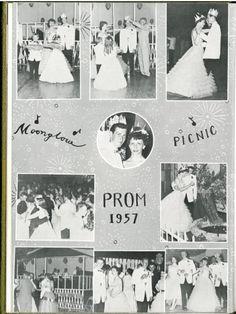 Prom 1957, Crandon High School yearbook, Crandon, Wisconsin. Source: Crandon Public Library.