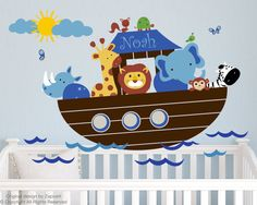 I love this Noah's Ark Wall Decal Noah's Ark with Personalized Name, but it's a little expensive!