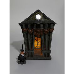 The Nightmare Before Christmas Mayor & Halloween Town City Hall Figure... ($100) ❤ liked on Polyvore featuring home, home decor, holiday decorations, christmas figurines, outdoor holiday decor, christmas holiday decor, christmas holiday decorations and christmas home decor