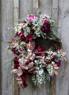 Christmas Wreath Holiday Wreath Victorian Christmas Wreath