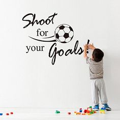 [ Aliexpress Buy Shot Goals Football Wall Stickers Home Wall Art Boys Wall Stickers Football Striker Personalised Wall Art ] - Best Free Home Design Idea & Inspiration Wall Stickers Sports, Letter Wall Stickers, Removable Wall Stickers, Wall Stickers Home Decor, Wall Stickers Murals, Wall Decals, 3d Wall, Poster Mural, Art Mural