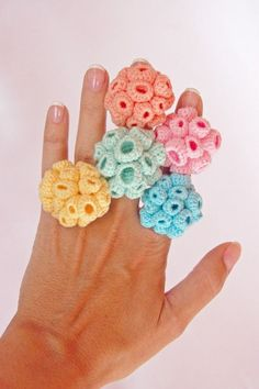 Light Yellow Soft Colors Rings Anillos by cristinamartins, �15.00.