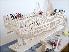 Construction of H.M.S. Victory ship model,part 1