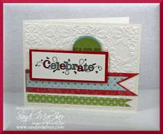 Outlined occasions stamp set from stampin up card by sandi maciver