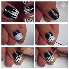 A Music Geek's Nails with Piano Keys.