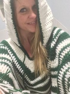 Crochet PDF Pattern For Unisex Hooded Poncho One Size  *Instant Download* #crochetpattern #crochetponchopattern #crochetfashion #ponchos #patterns