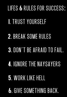 Arnold Schwarzenegger's 6 Rules for Life and then some... - much better when imagined in Arnold's voice