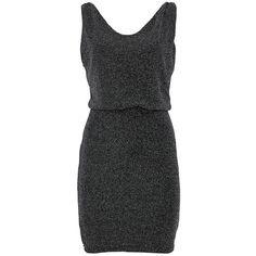Vila Dress Luo Silver (135 BRL) ❤ liked on Polyvore featuring dresses, vestidos, short dresses, robe, silver, vila, vila dress, short silver cocktail dresses and silver mini dress