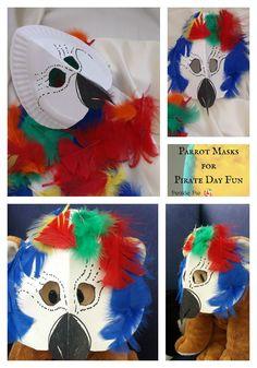 Finished Parrot Masks