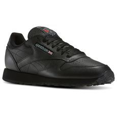 on sale 2eefa b7c47 Men s Sneakers, Athletic, Running,   Training Shoes   Reebok US. Reebok  Classic Leather BlackBlack Leather TrainersLeather ...