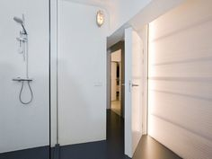 Home Interior Shower Room Also White Door Near Grey Floor White Interior in Bright Color Theme