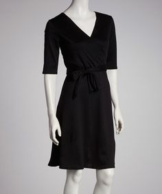 This Black Wrap Dress is perfect! #zulilyfinds