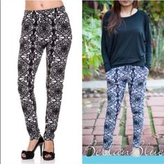 🆕The ROSALEE print jogger pants - BLACK 🎉1/21🎉- These abstract jogger pants are so Versatile. Mix & match to get so many fun looks. Black & white print jogger drawstring pants with pockets. 65% polyester, 35% cotton. ‼️NO TRADE‼️ Bellanblue Pants