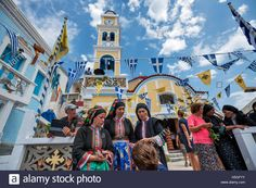 Celebration of Panagia day at Olympos village Karpathos Island Greece Contributor: Images & Stories / Alamy Stock Photo Karpathos, Greece, Celebration, Island, Stock Photos, World, Building, Plays, Travel