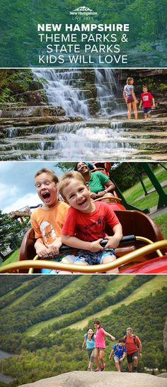 Kids love rides and games at New Hampshire theme parks and attractions, but they also enjoy exploring the gorgeous state parks. Browse through our trip guide for family vacation recommendations this summer!