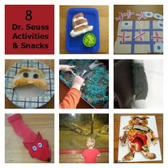 Collage of Dr. Seuss Activities