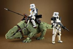 """""""Sandtrooper and Dewback"""" by LEGO 7: Pimped from Flickr"""