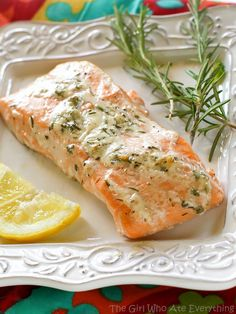 The combination of unique flavors in this #tasty Rosemary Ranch Salmon are incredibly satisfying.