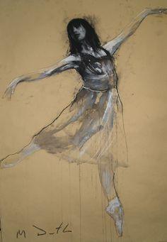 Tamara dancing by Mark Demsteader. Mark Demsteader, Beautiful Sketches, Figure Drawing Reference, Gesture Drawing, Chalk Pastels, Art Studies, Art Techniques, Painting & Drawing, Art Drawings