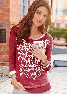Pulóver, Aniston Christmas Sweaters, Marsala, Shopping, Fashion, Moda, Fashion Styles, Christmas Jumper Dress, Fashion Illustrations, Marsala Wine