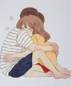 Gud mrng babu😚have a lovely day❤love u Tiku 😗💋❤ Art Love Couple, Cute Couple Drawings, Cute Couple Cartoon, Cute Love Cartoons, Anime Love Couple, Cute Anime Couples, Love Art, Cute Drawings, Couple Illustration