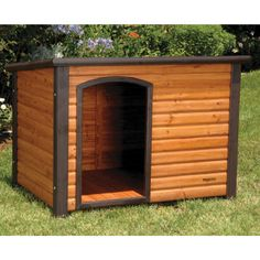 How cute... a log cabin for your dog