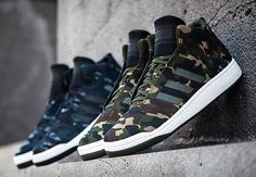 Last year, adidas Originals introduced a deconstructed version of the Forum Mid, going by the Veritas Mid. The scaled down edition of the sneaker has just Adidas Shoes Outlet, Nike Shoes Cheap, Adidas Sneakers, Adidas Camouflage, Shoe Releases, Sneaker Magazine, Latest Sneakers, Dream Shoes, Sneaker Boots